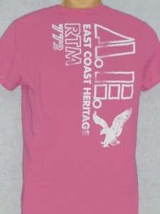 American Eagle Mens Heritage Pink Graphic T Shirt NWT