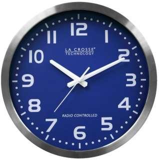 La Crosse WT 3161BL 16 Atomic Analog Wall Clock w/ Stainless Steel
