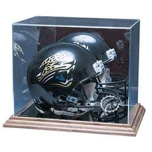 Miami Dolphins Nfl Full Size Football Helmet Display Case (Wood Base