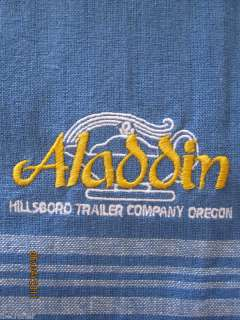 Aladdin Vintage Travel Trailer Embroidered Towel