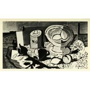1956 Print Georges Braque Black Rose French Modern