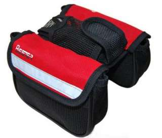 Cycling Bike Bicycle Trame Pannier Front Tube Bag Red with rain cover