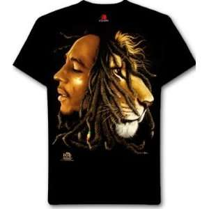 Bob Marley/Lion Large Black T Shirt: Everything Else