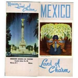 Mexico Land of Charm 1950s Tourist Brochure Diego Rivera