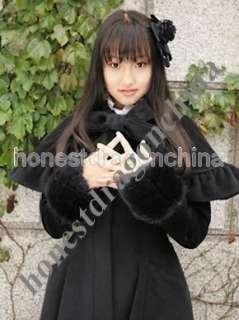 Winter Autumn Gothic Lolita Wool Cape Coat B2 Custom