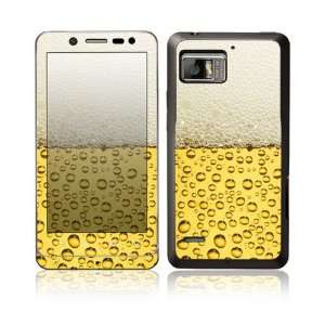 Love Beer Design Protective Skin Decal Sticker for Motorola Droid