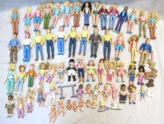 Dollhouse Figures Lot People Mom Dad Baby Toddler Pet Sweet Sounds