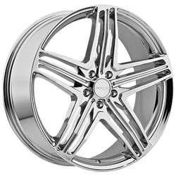 22 Inch Menzari Z12 Chrome Wheels Rims 5x115 / Cadillac CTS Impala