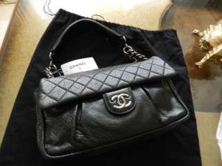 CLASSIC   New NWT Lady Braid QUILTED FLAP   Black Lambskin   BAG PURSE