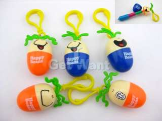 Egg Bean Retractable Keychain Writing Ball point Ballpoint Pen