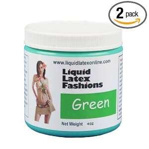 Liquid Latex Fashions Ammonia Free Body Paint, Green, 4