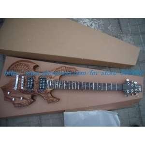 com new esp pure handmade sandalwood color solid body electric guitar