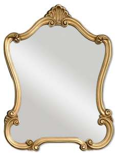 Gold Leaf Mirror for Hallway Buffet Server Bathroom