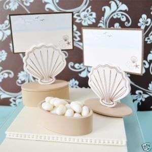 120 BEACH Seashell Wedding FAVOR BOX & Placecard Holder