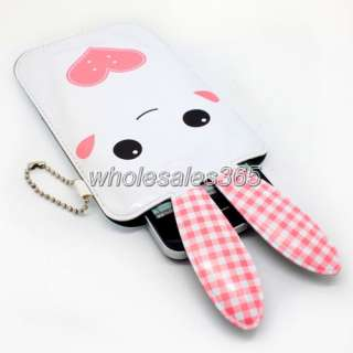 For BlackBerry Bold 9900 9930 Mobile Cell Phone Rabbit Case Pouch Bag