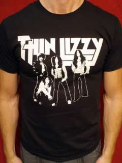 Thin Lizzy t shirt vintage style Tall & long sleeve & ladies 01
