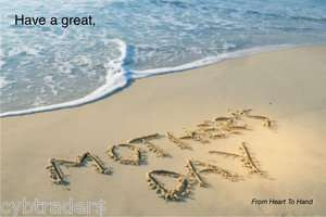 Mothers Day Gift Card Insert Beach Scene Refrigerator Magnet