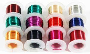 12PC Beading Wire Wrapping Assorted Colors Artistic 26 Gauge Jewelry