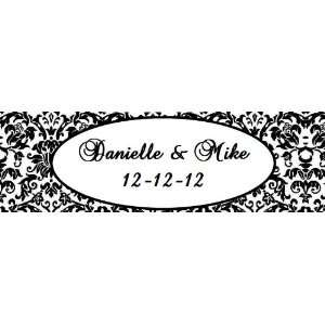 20 Damask Themed Waterproof Water Bottle Labels/Stickers for wedding