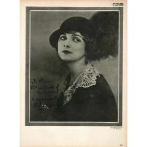 1923 Alice Terry Silent Film Actress Biography Print
