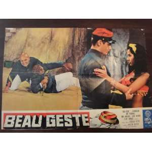 Original Italian Movie Poster Beau Geste Guy Stockwell Doug Mcclure