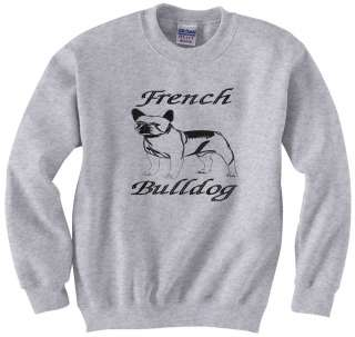 French Bulldog Non Sporting Dog Silhouette Embroidered Sweatshirts Sm