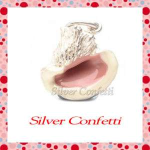 Sterling Silver PINK Conch SEASHELL from the SEA SHORE Charm or
