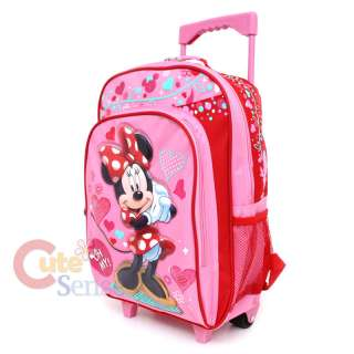 Disney Minnie Mouse Roller Backpack16 Large Rolling Bag  Sugar Sweet