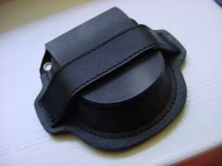 Black Gen. Leather Pocket Watch Case / Holder Belt Loop