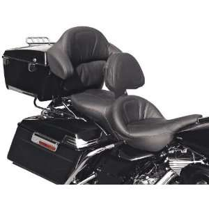 Seat with Driver Backrest and Tour Pak Backrest Pad Cover D993J