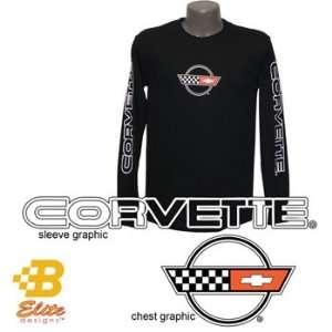 Elite Designs BDC4ST845  BLK XL C4 Corvette Black Long Sleeved Shirt