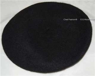 unisex ladies men CAP hat french wool BERET Navy