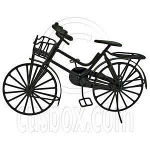 Black Wire Vintage Cycling Bicycle Bike 112 Dolls House Dollhouse
