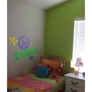 Vinyl Wall Art Decal Custom Stickers   Peace Sign and