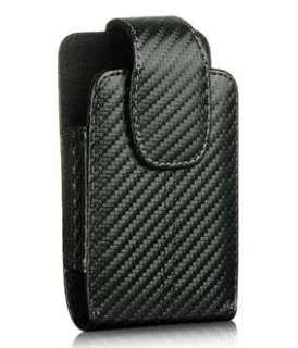 BLK CARBON FIBER FABRIC VERT BELT CLIP POUCH CASE HTC EVO 4G 3D PHONE