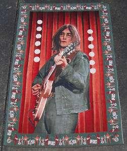 BEATLES JOHN LENNON Cloth Tapestry 36 x 54 Nice