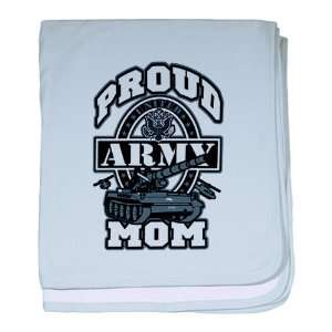 Baby Blanket Sky Blue Proud Army Mom Tank