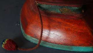Prayer Wooden KAPALA tambourine Tibetan Buddhist Magic