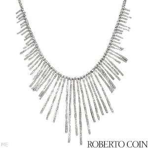 Roberto Coin 18K White Gold 5.02 CTW Color F G VS1 VS2 Diamond and 0