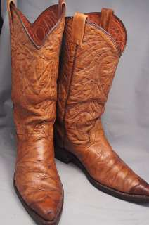 Texas Brown Leather 10.5 D Mens Western Boots