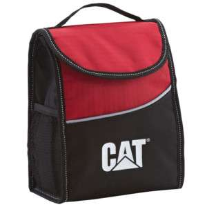 NEW CAT LUNCH COOLER BAG BOX RED & BLACK