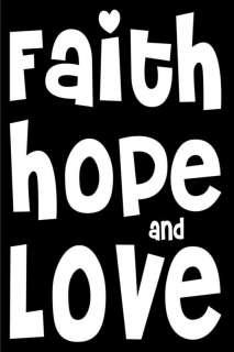 christian decal faith hope love jesus bible verse A051