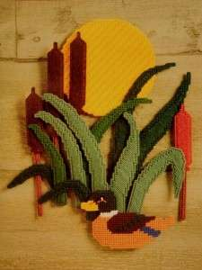 TEMPTATIONS Duck Cattails HARVEST MOON Wall Hanging KIT