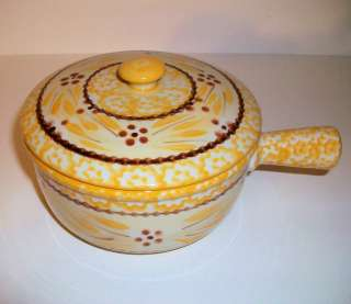 TEMP TATIONS TEMPTATIONS CROCK WITH LID   OLD WORLD YELLOW  NEW   SHOP