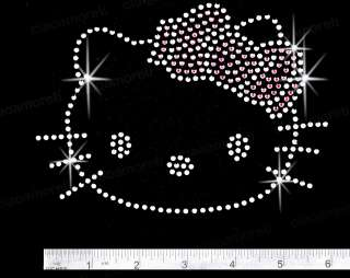 Rhinestone hotfix iron on HELLO KITTY outline transfers
