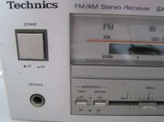 Technics Natural Sound SA 121 AM FM Stereo Receiver Working Condition