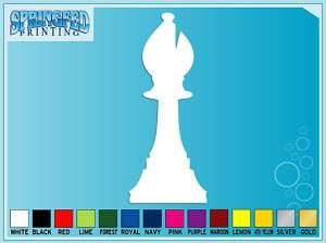 BISHOP Chess Piece Silhouette vinyl decal sticker #1