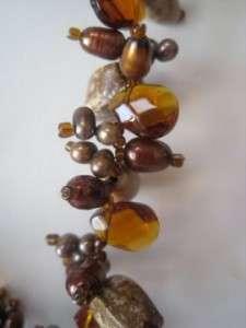 Fleur De Lis Crystal Jasper Biwi Topaz Pendant Necklace