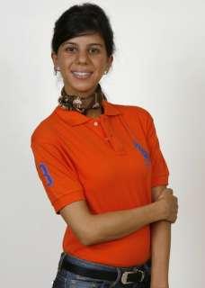 Ralph Lauren Ladies Polo Orange/Purple SKINNY fit NWT