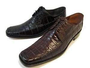 King Exotic Caiman/Eel Mens Dress Shoes Black, Brown